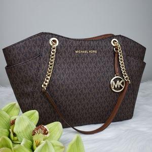 🌺NWT Michael Kors LG Chain shoulder bag brown MK